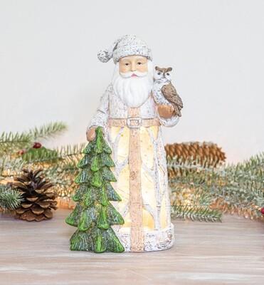 Timber Santa Lantern w/ Light