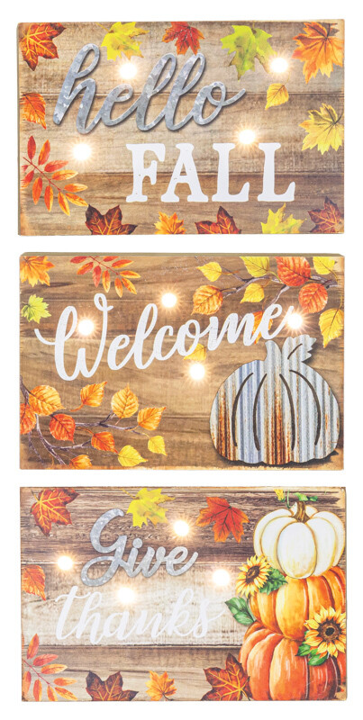 Give Welcome Fall Siding Block