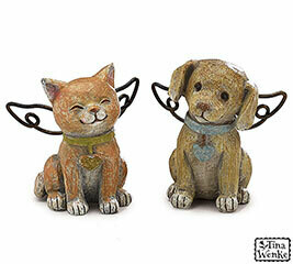 Figurine Angel Dog & Cat