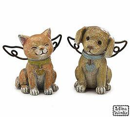 Figurine Angel Dog & Cat-2377-HEM