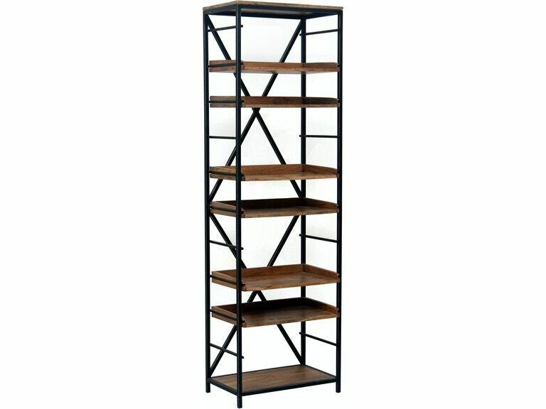 Metal & Wood Bookshelf-8501-HEM