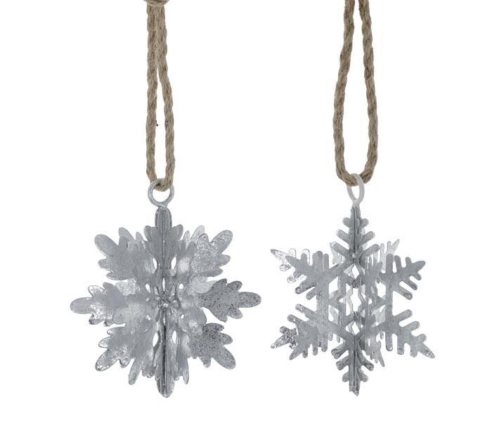 Silver Tin Snowflake