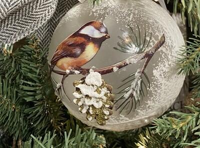 Light Up Chickadee Ornament