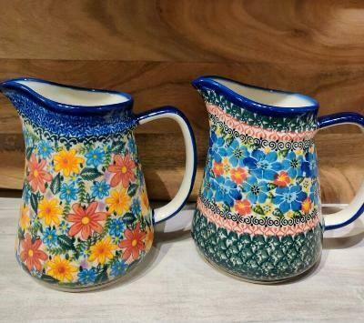 Polish pottery pitcher - Laurel