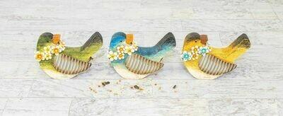 Floral Necklace Bird - 2131 - HEM