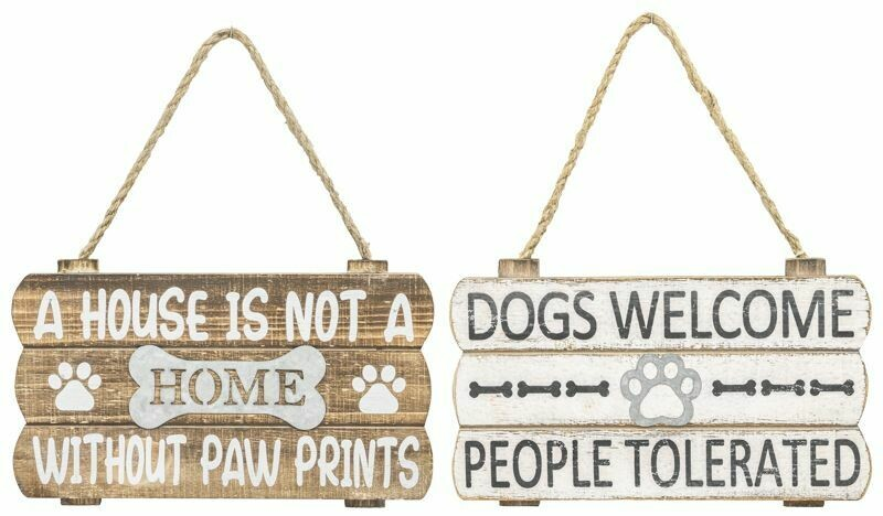 Dog Paw Welcome Sign - 2140 - HEM