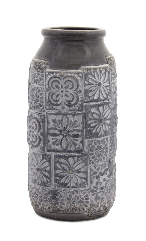 Gray Vase Terra Cotta - 2828 - HEM