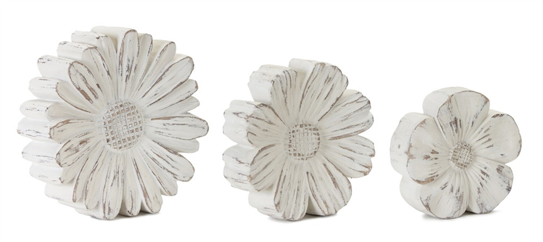 Wood White Flowers Small - 2832b - HEM