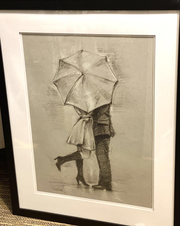 Art Framed Rainy Day Rendezvous III Ethan Harper - CHR