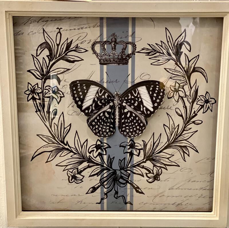 Butterfly Wall Art 3-D Set of 2  - CHR