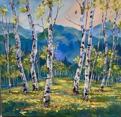 Aspen Acrylic Painting 17x17 - PER