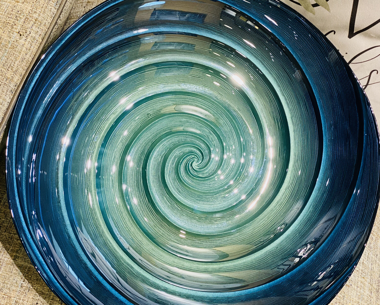 Moody Swirl Glass Bowl - DEB
