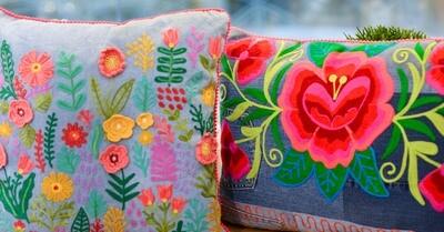 Embroidered Pillow Rect - LKAR