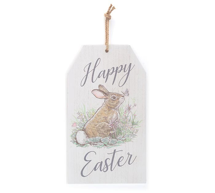 Wall Hanging Happy Easter Tag - 2577 - HEM