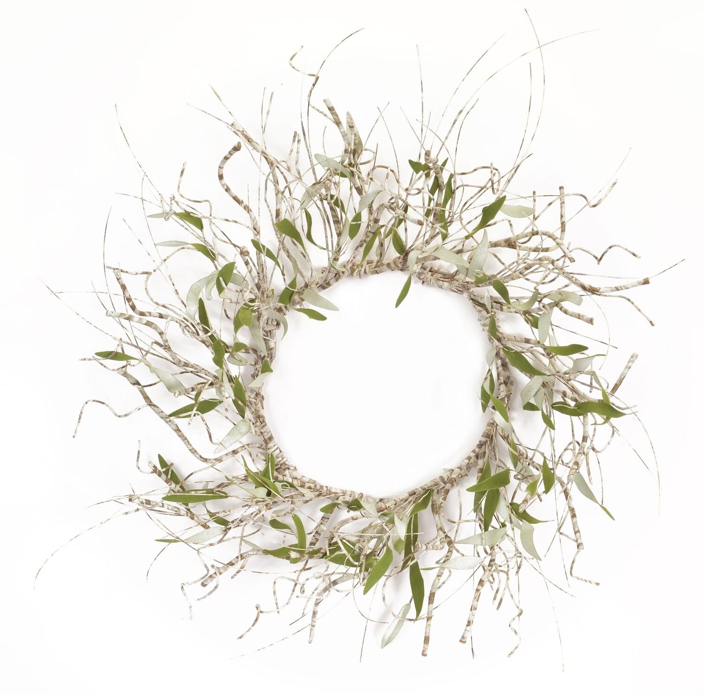 """Twig/Leaf Wreath 37""""-2851-HEM"""