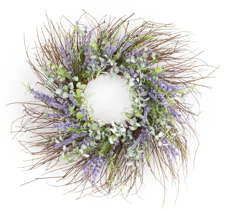 """Floral Wreath 30.5""""-2852-HEM"""
