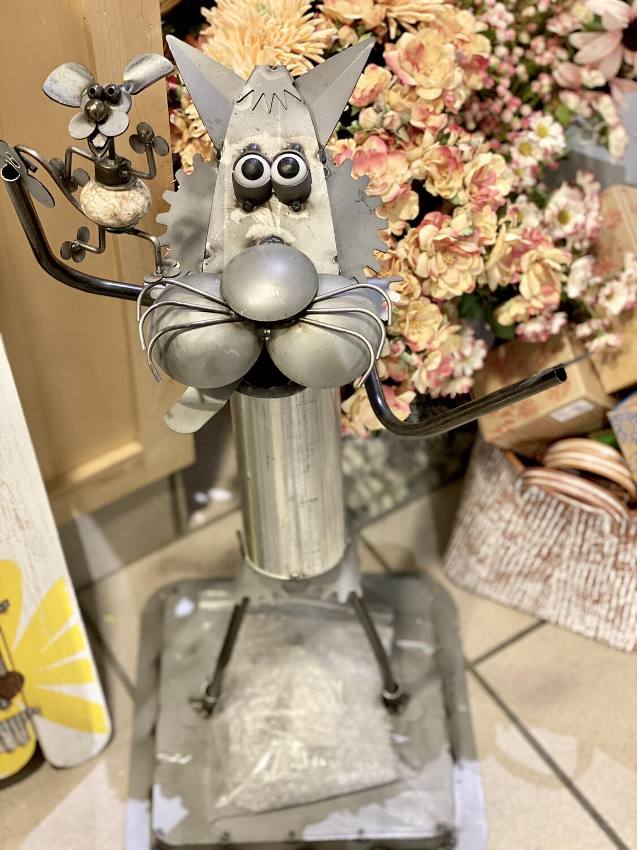 Metal Cat w/Mouse - LUA