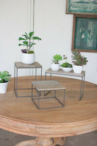 Wood and Metal Risers - Med - 1405a - HEM