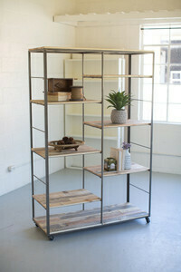 Wood & Metal Adjustable Shelving Unit - 1412 - HEM