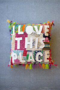I Love this Place Pillow - 1403 - HEM