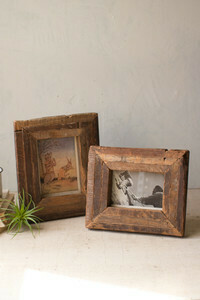 Recycled Wood Photo Frame Lrg - 1406a - HEM