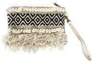 Boho Woven Clutch Bag Black - 1203 - HEM