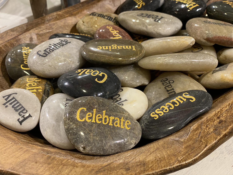 Engraved Inspirational River Stones - 1207 - HEM