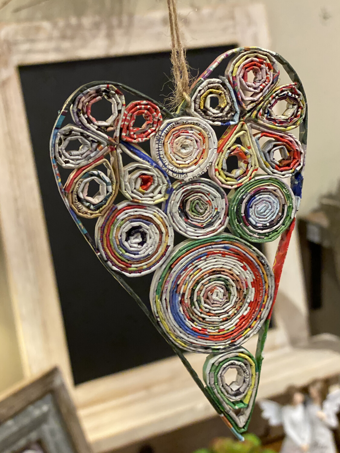 Heart Ornament Recycled Paper - 1213 - HEM