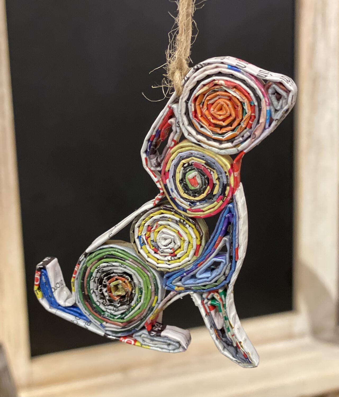 Dog Ornament Recycled Paper - 1214 - HEM