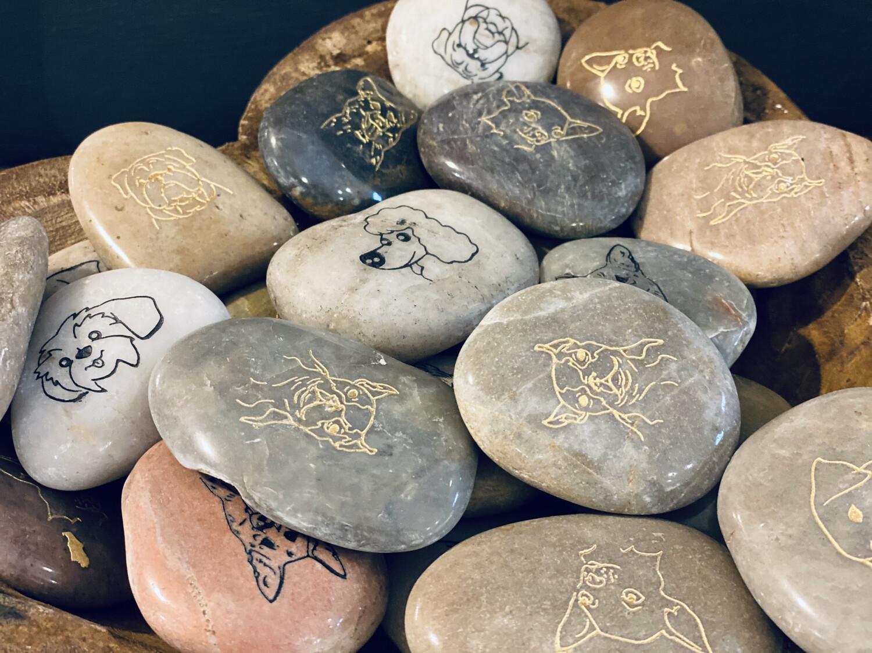 Engraved Dog River Stones-1220-HEM