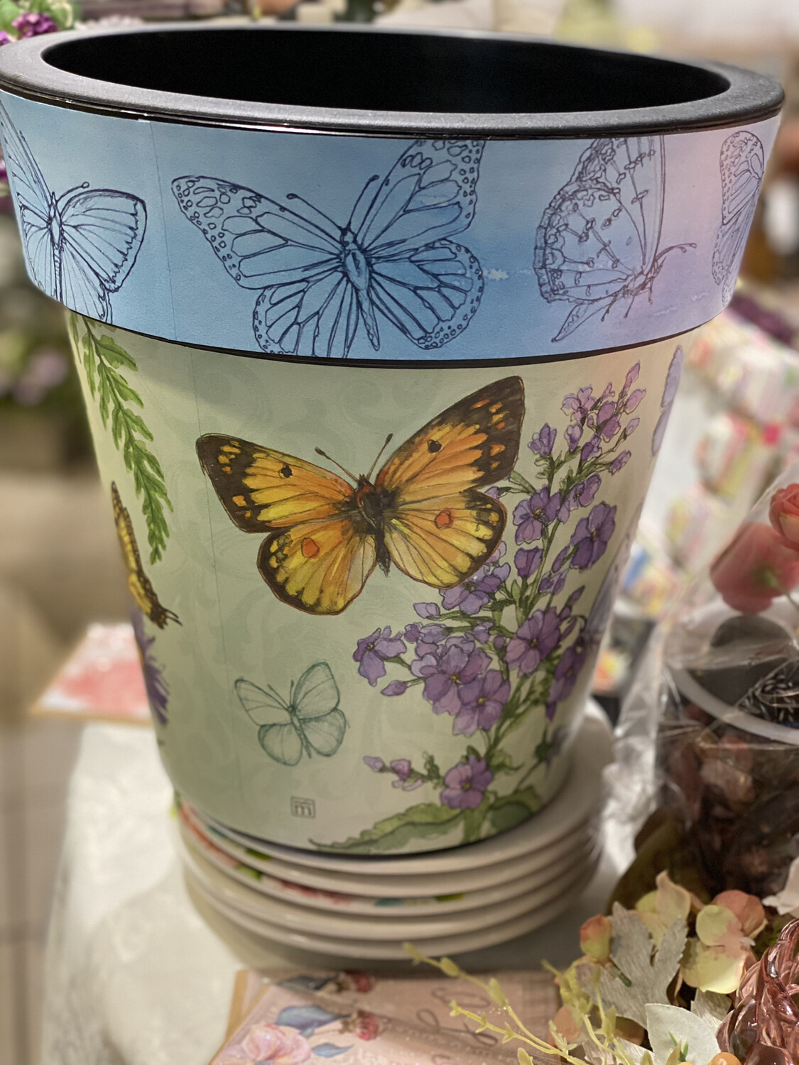 "Butterfly 12"" Art Pot - ASTM"