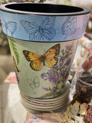"""Butterfly 12"""" Art Pot - ASTM"""