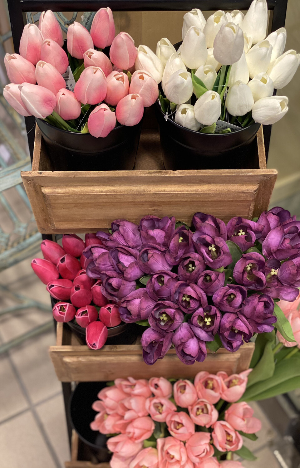 Real Touch Tulip Mini Stem Assorted- K&K