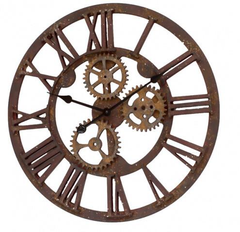 Rustic Steampunk Clock-1806-HEM