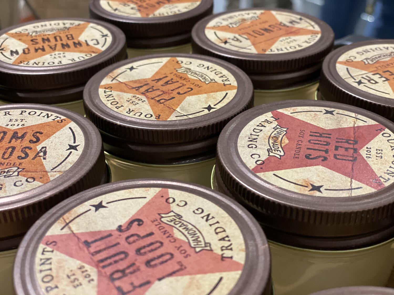4 oz Soy Candle Hazelnut Coffee - 3705 - HEM