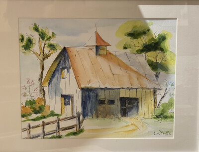 Lorraine Fritts Original Watercolor-Spring Barn - FRZ