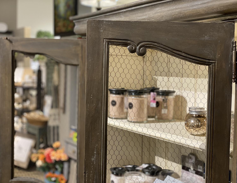 Chateau Linen Cupboard w/ Chicken Wire - BRM