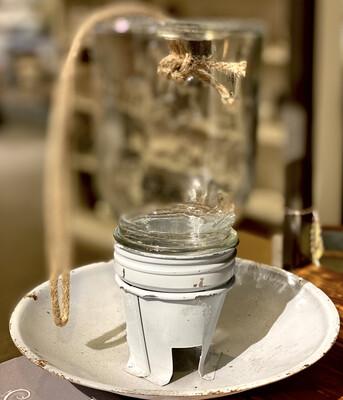 Small Mason Jar Bird Feeder-1804-HEM