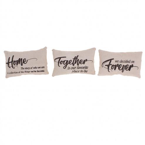 Home Together Forever Asst Pillows - 1807 - HEM