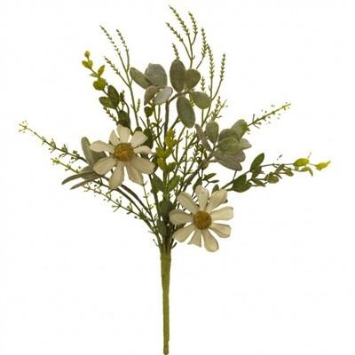 "Rustic White Daisy Pick 12"" - 1808 - HEM"