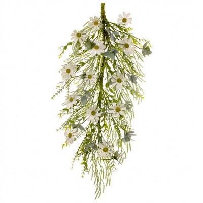 """Rustic White Daisy Drip Garland 31.5"""" - 1809 - HEM"""