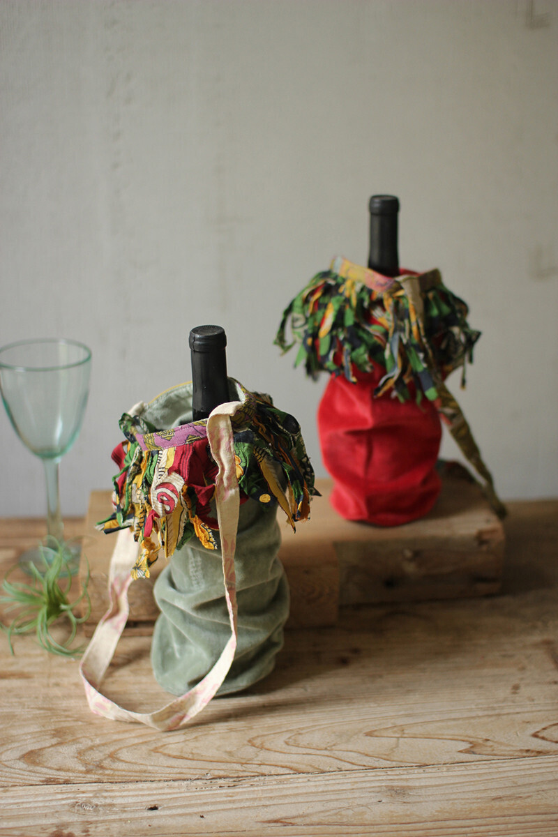 Velvet Wine Bags-1422-HEM