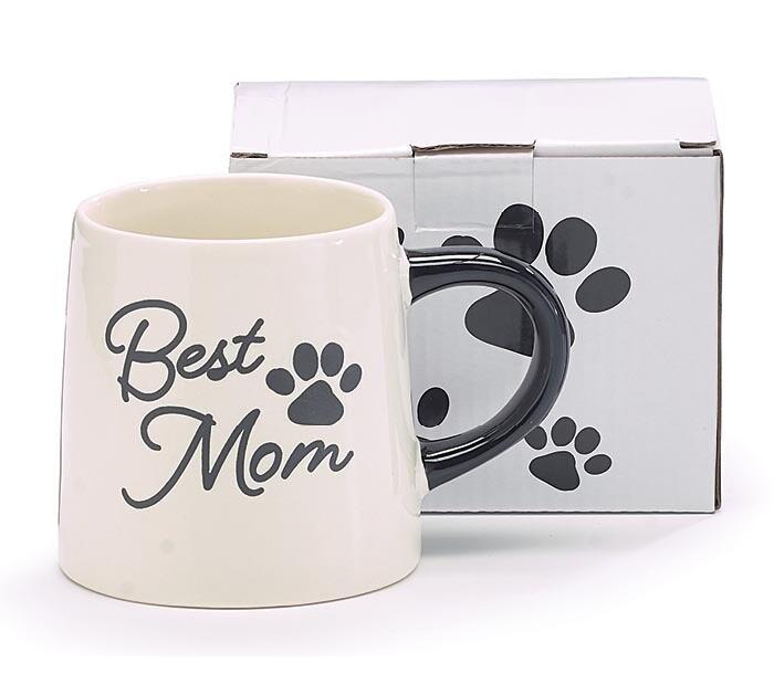 Mug Best Mom Paw Print - 2584 - HEM
