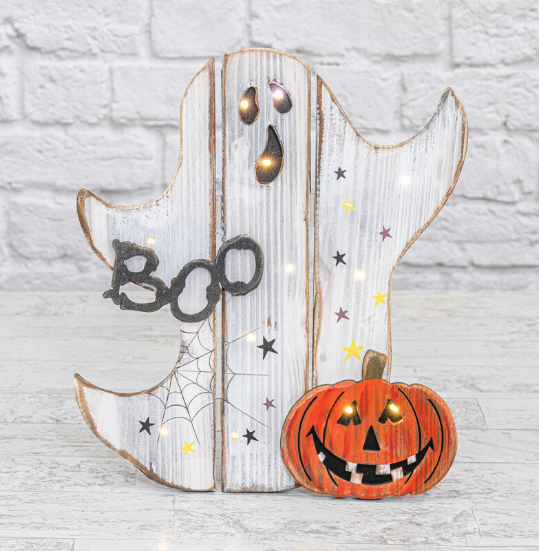 Boo Ghost Pumpkin Easel-2149-HEM