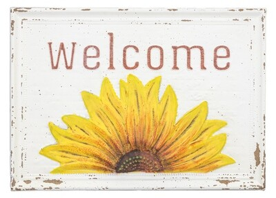 Peeking Sunflower Welcome-2152-HEM