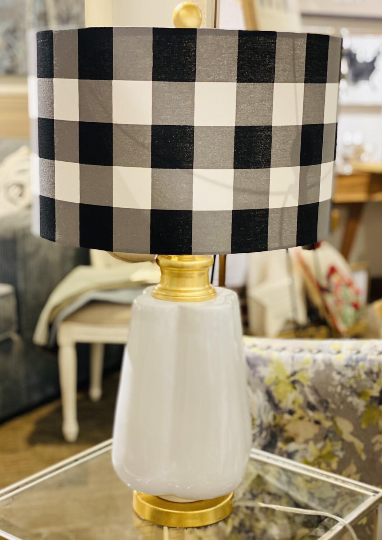 Lamp Buffalo Checked Linen Shade - LCB