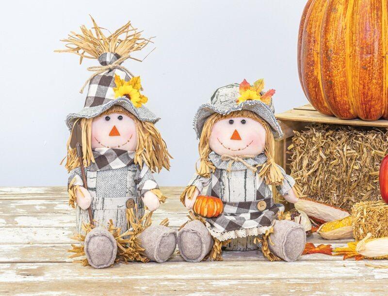 Barn Plaid Scarecrow Sitter - 2154 - HEM