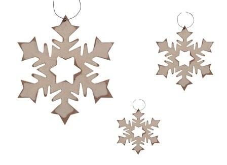 Large Sharp Edge Snowflakes - 1825 - HEM