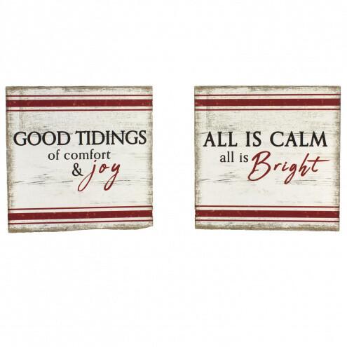 2 Assorted Rectangular All is Calm/Good Tidings - 1827 - HEM
