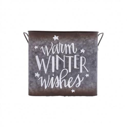 Warm Winter Wishes Bucket - 1824 - HEM
